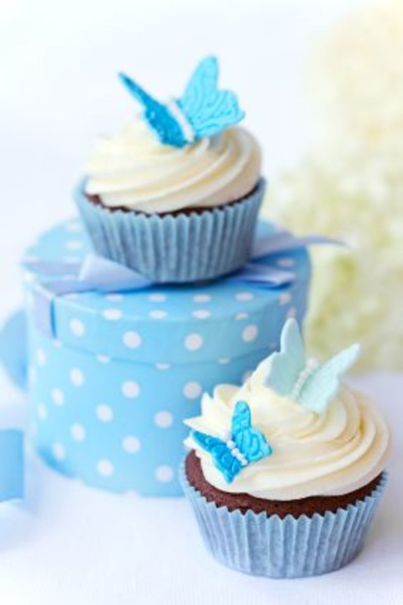 Blue butterfly cupcake @RuthBlack istockphoto