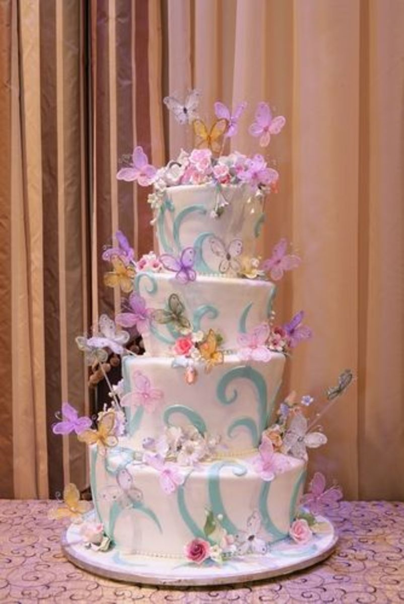 Tiered Butterfly Cake