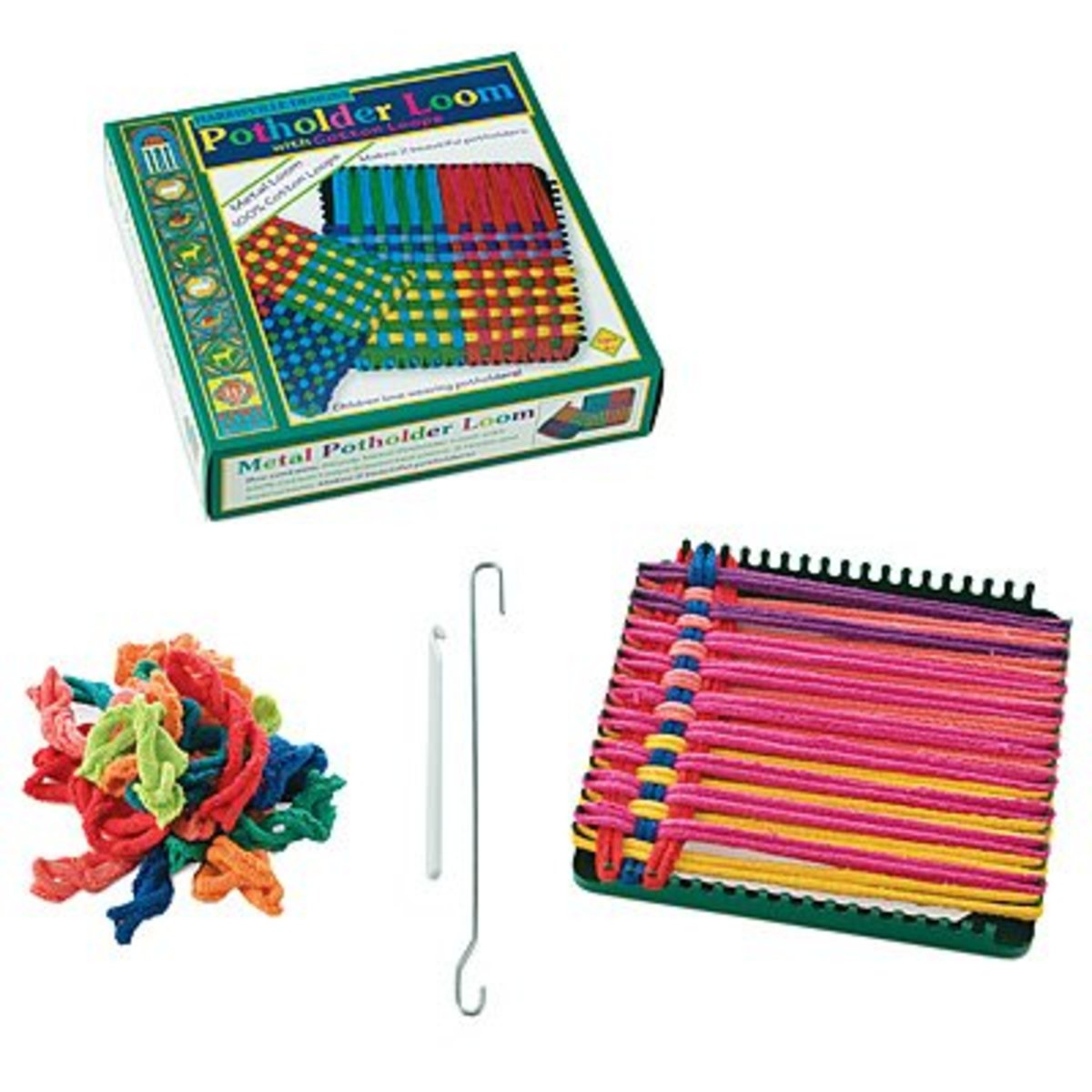 A gift that takes you back...remember this potholder loom from your youth? Maybe your daughter will too!