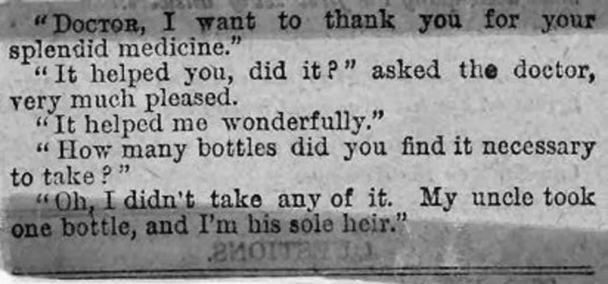 Look on the Bright Side of Victorian Medication