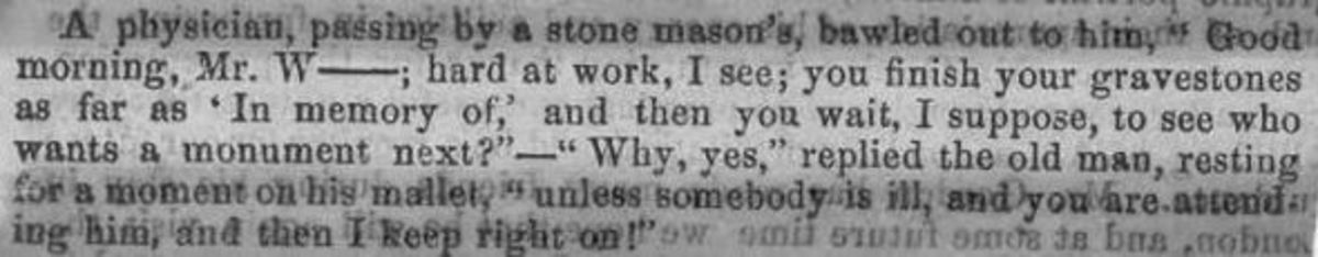 Victorian physician keeping the stone mason busy