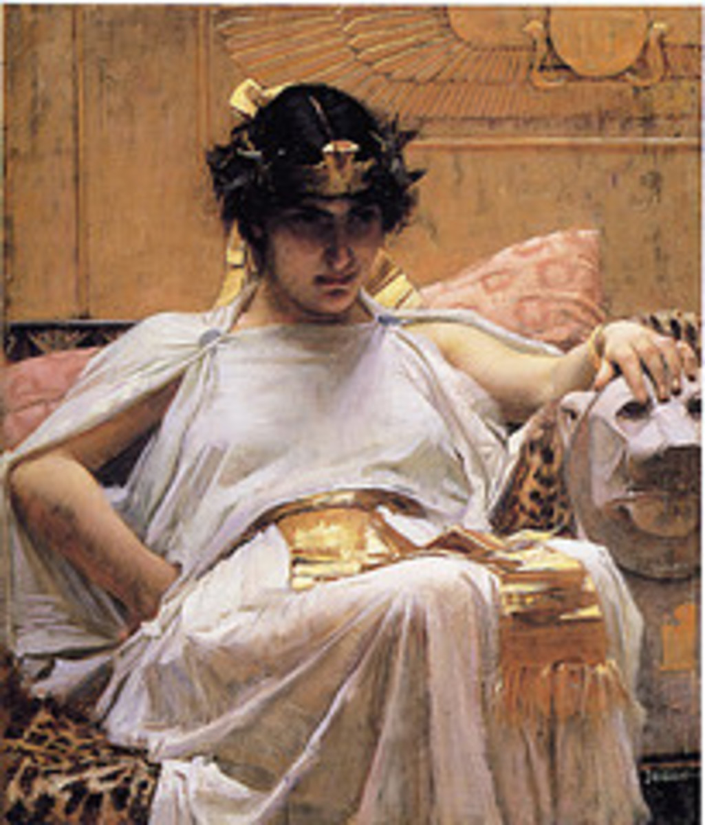 """Cleopatra"" J.W Waterhouse painting, by deflam"