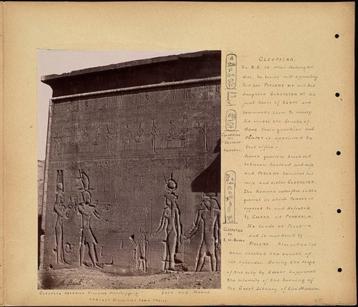 """Cleopatra"" by Beato Antonio, courtesy of the Boston Public Library"