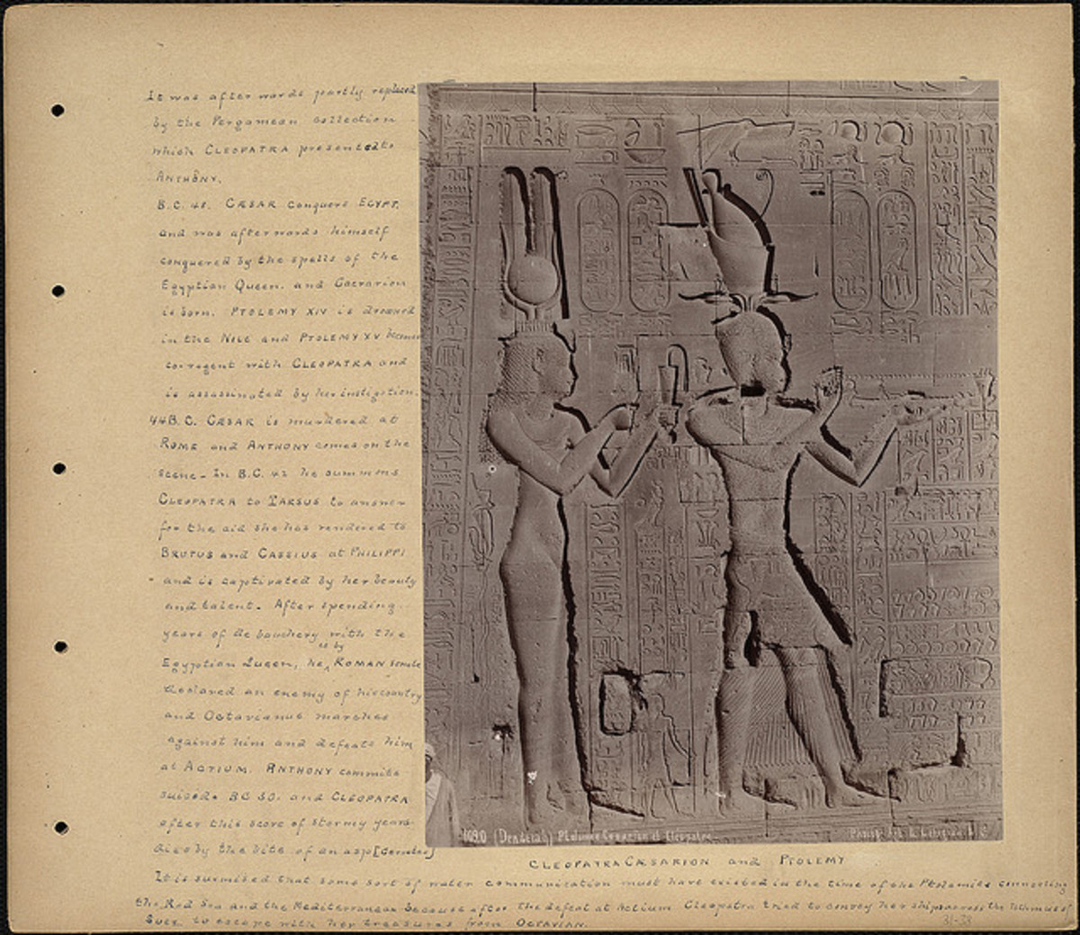 Cleopatra Cæsarion and Ptolemy, Boston Public Library, CC, some rights reserved via Flickr