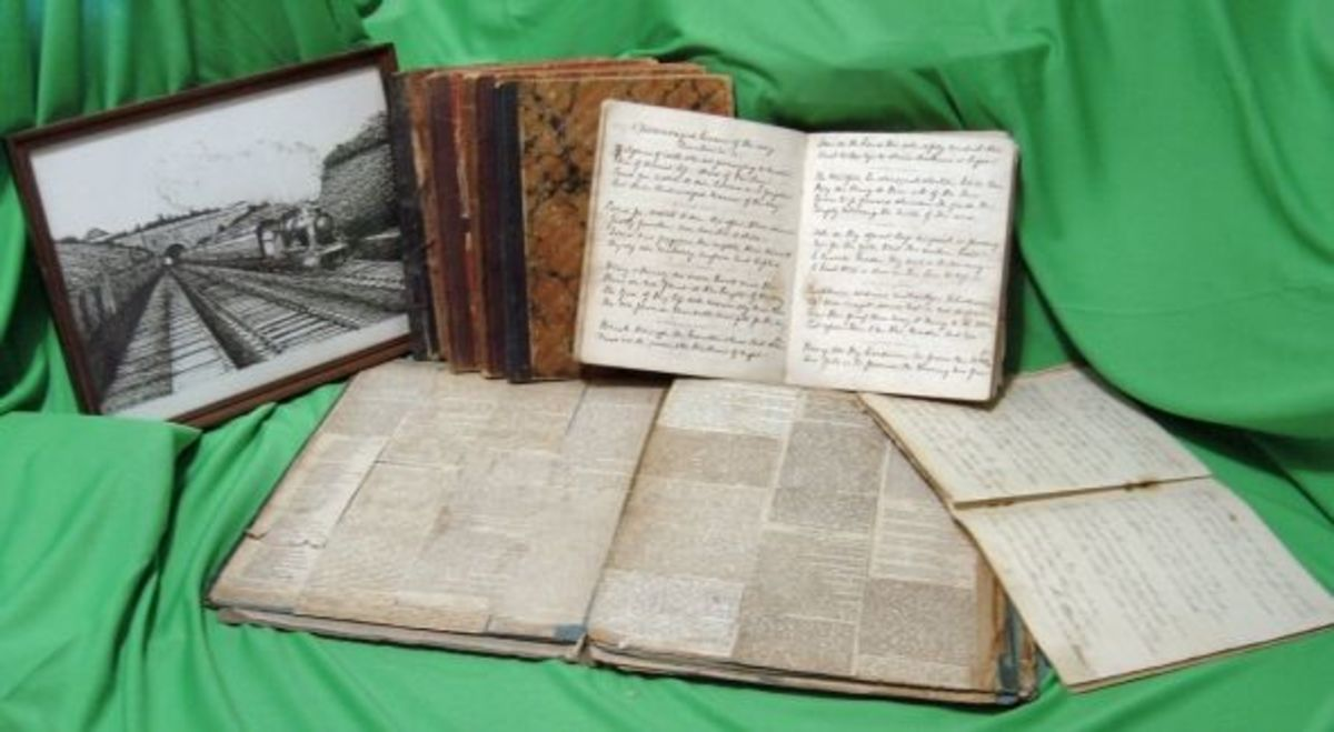 Victorian scrapbook containing newspapers articles saved by George Burgess 1929-1905