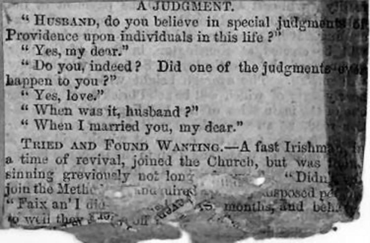 Judgement (Victorian Humour)