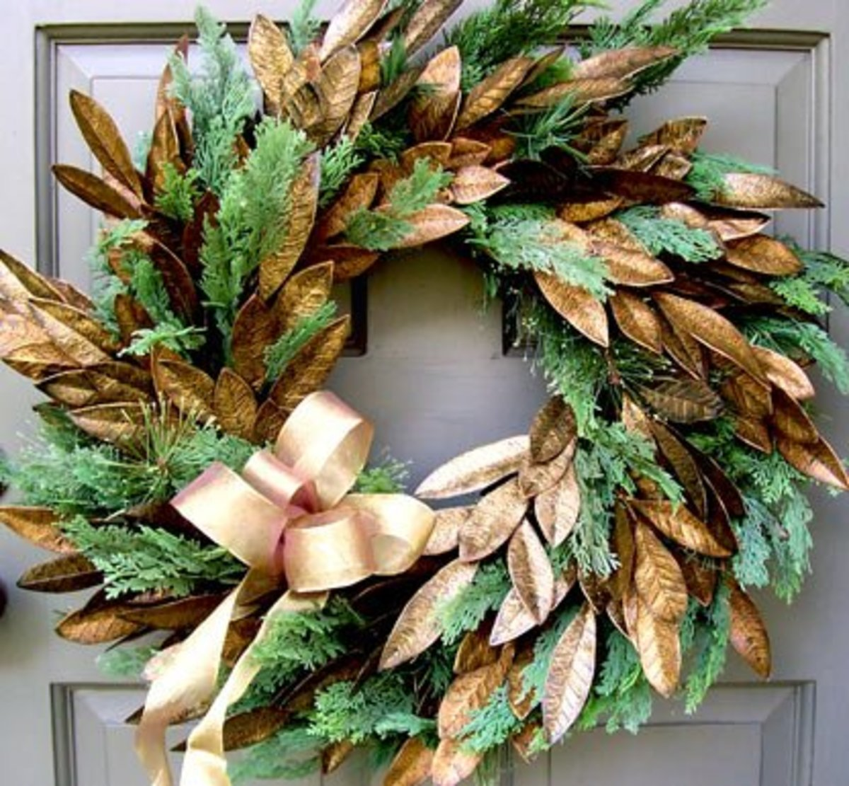 One Of The Most Popular Christmas Decorations Is The Evergreen Wreath.