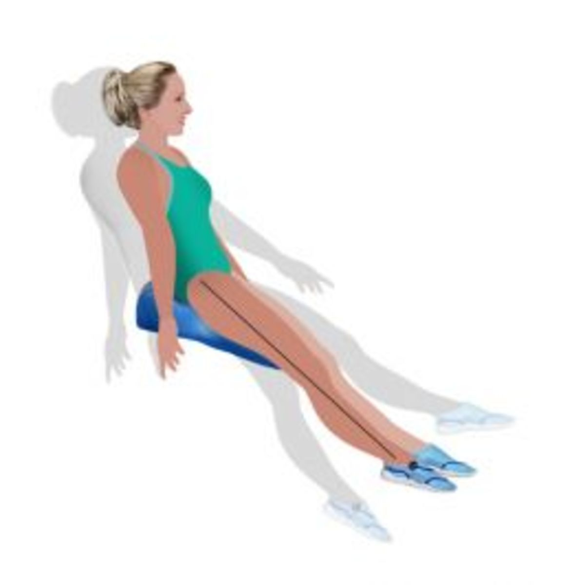 Seated Balance with the Swim Board called the EZ Swimmer