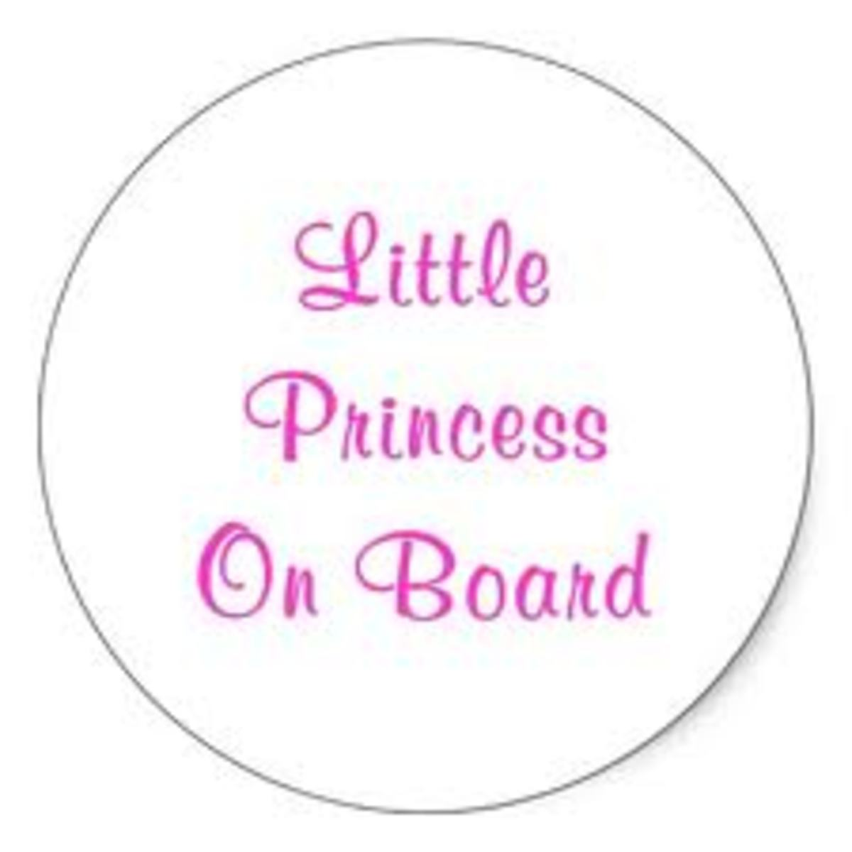 Little Princess Car Sticker - Just Encourages Pretentious Behaviour!