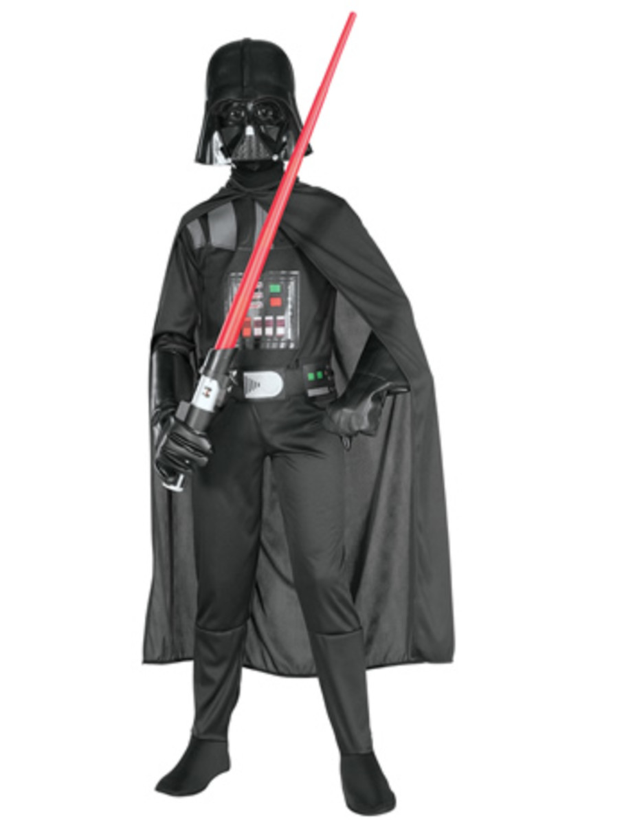 Boys like a Variety of Dressing Up Costumes - Darth Vader is Popular Choice!