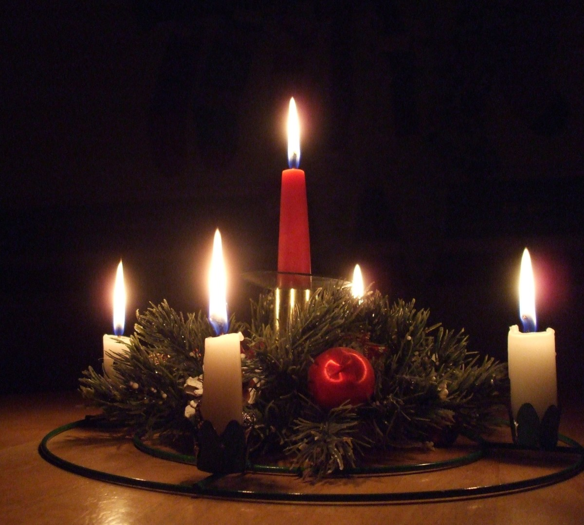 Advent wreath.