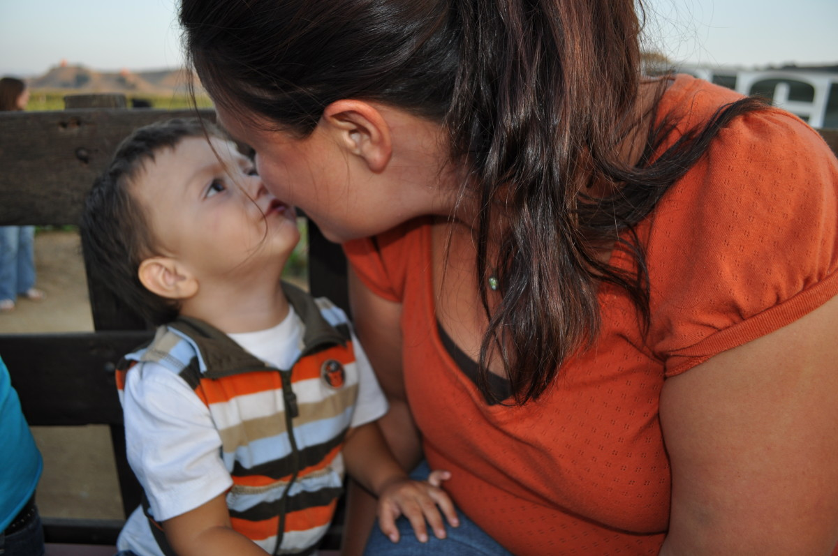 Nothing is better than baby kisses!