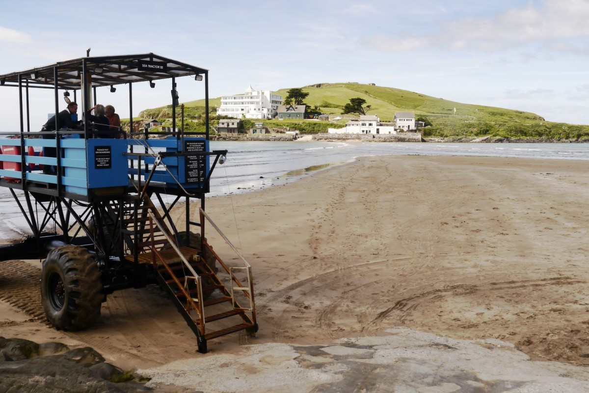 Sea tractor at Burgh Island