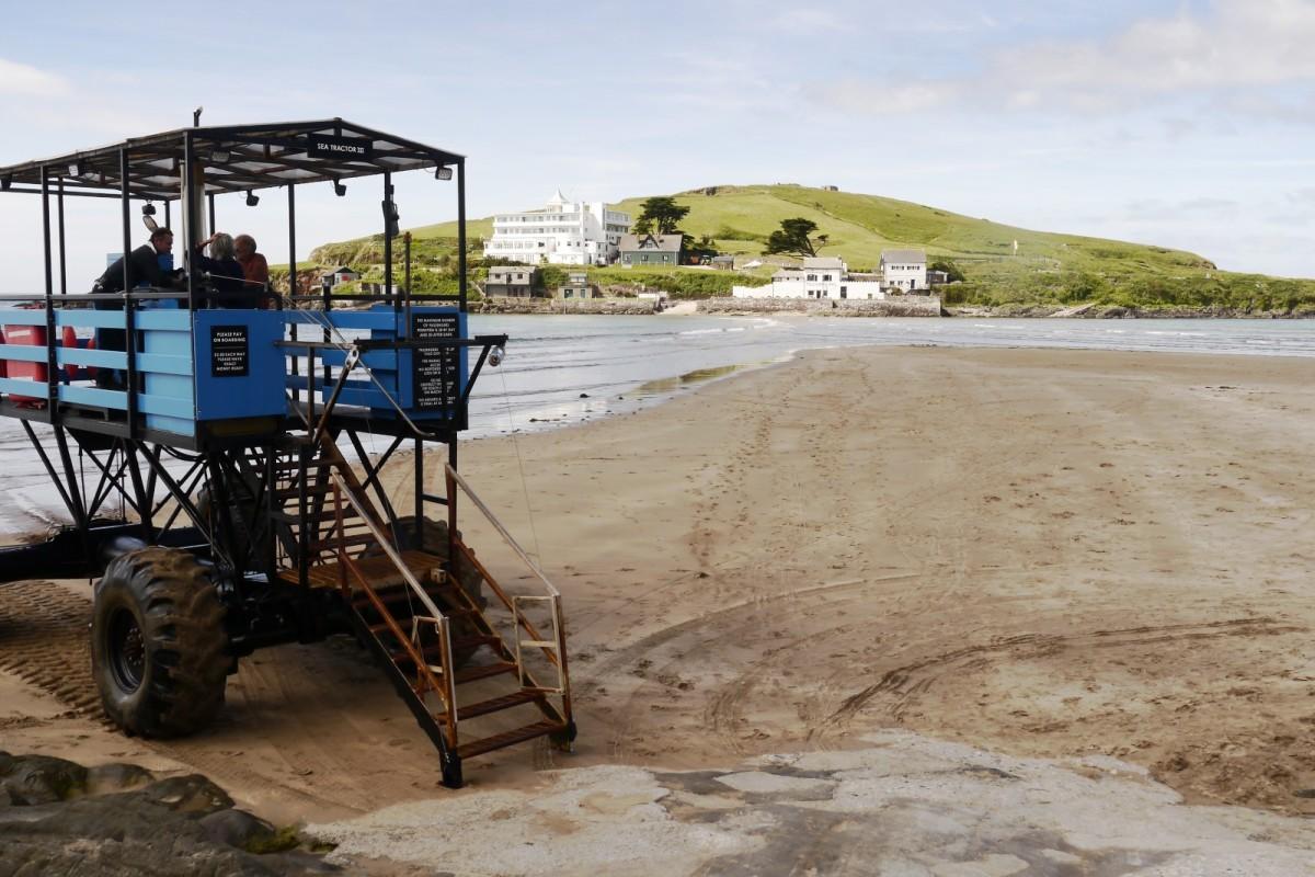 Sea tractor at Burgh Island