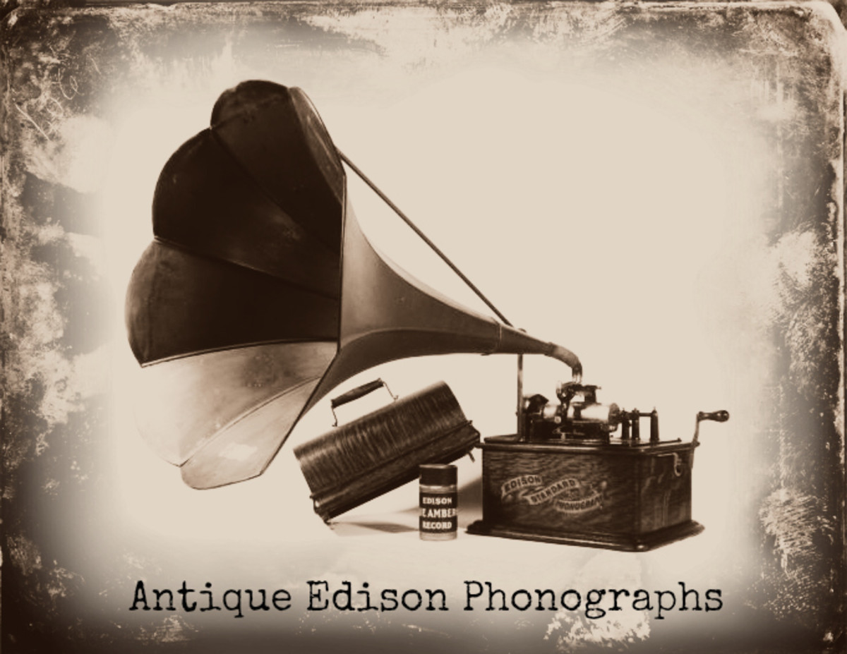 Antique Edison Phonographs