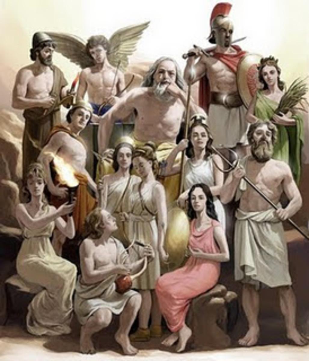 All 12 Olympian  gods