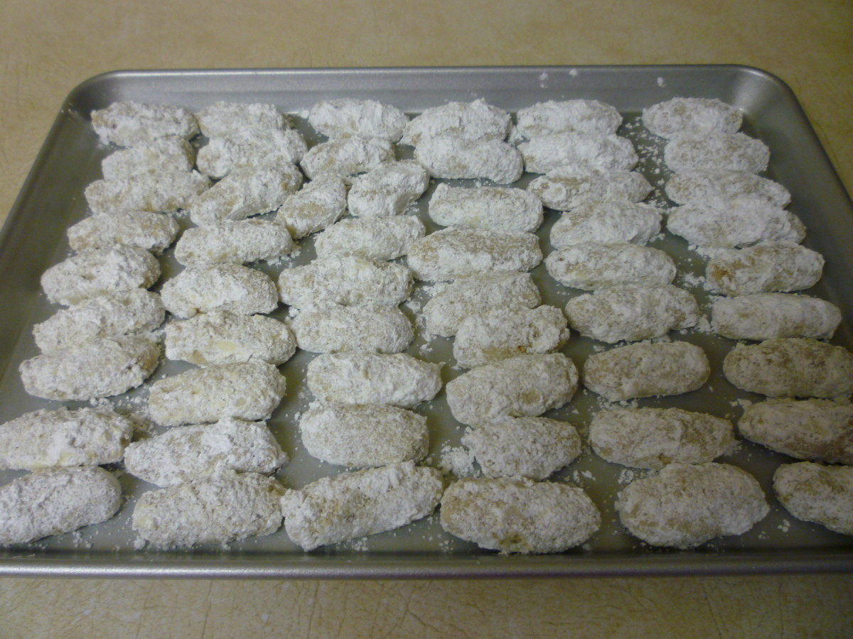 Pecan fingers cooling in another pan and ready to share with cookie lovers of all ages.