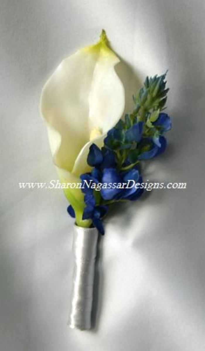 these best man and father's boutonnieres are 9.90 each at Sharon Nagassar designs photo credit: sharonnagassardesigns.com