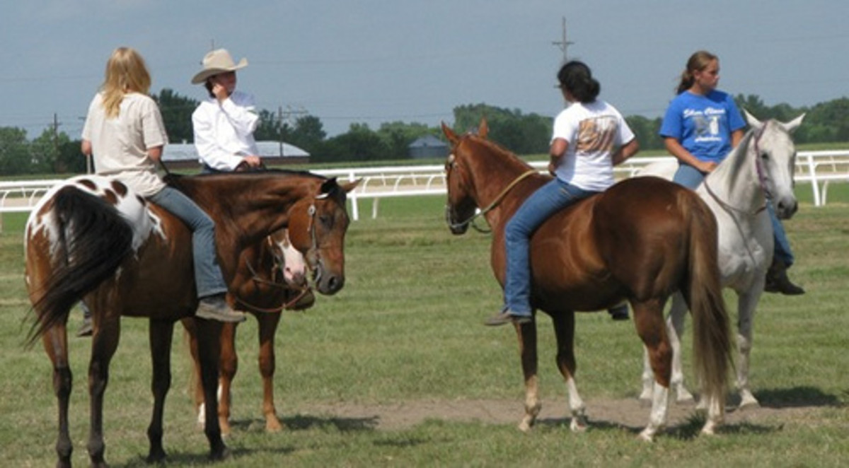 Horseback riding without saddles is a great feeling!