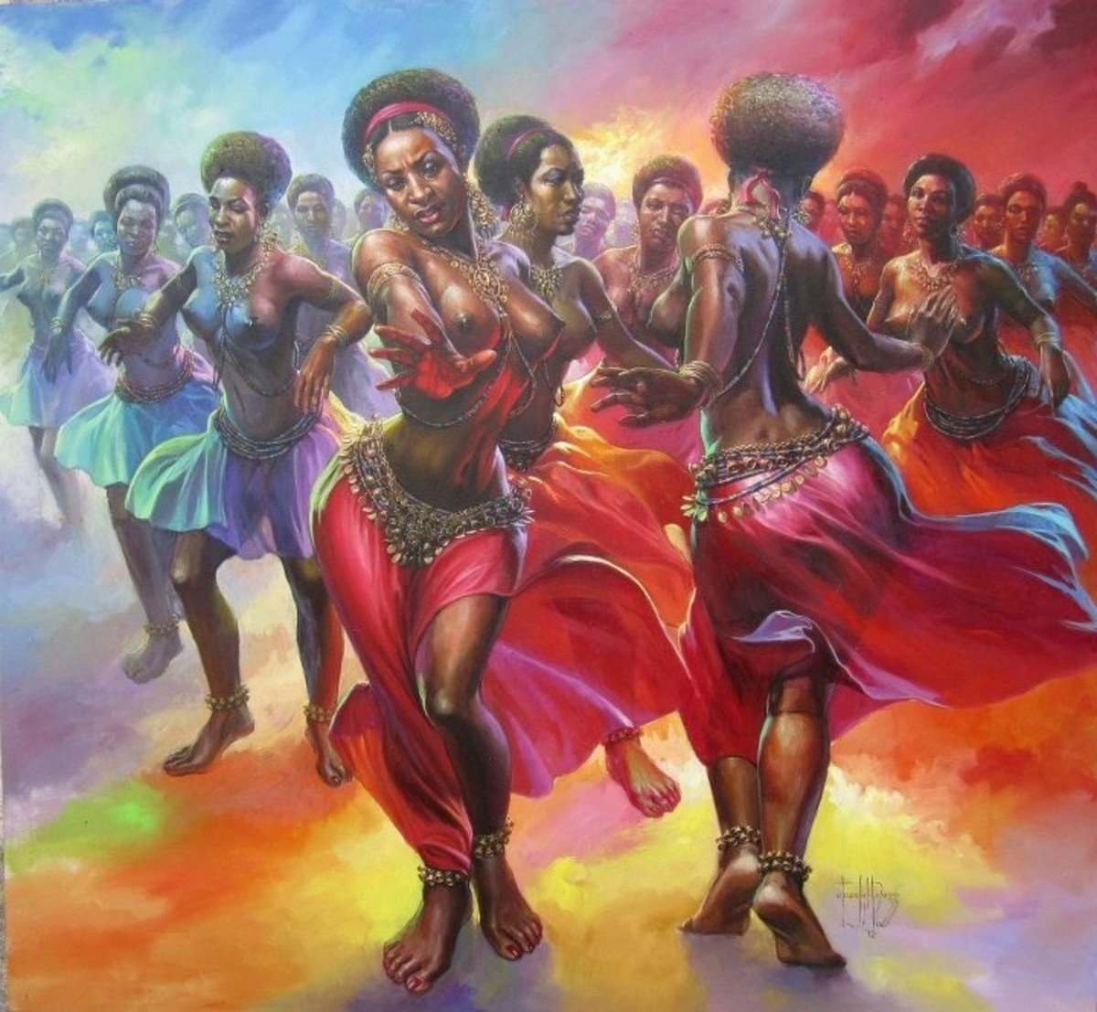 African Artworks: Amazing paintings of the famous Okwoju ...