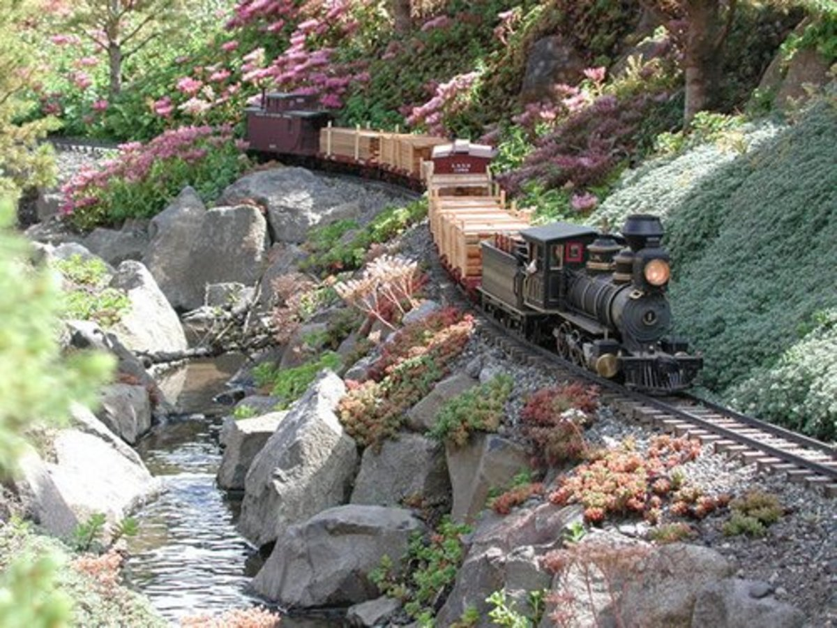 Model train resource g scale garden track plans to for Garden railway designs