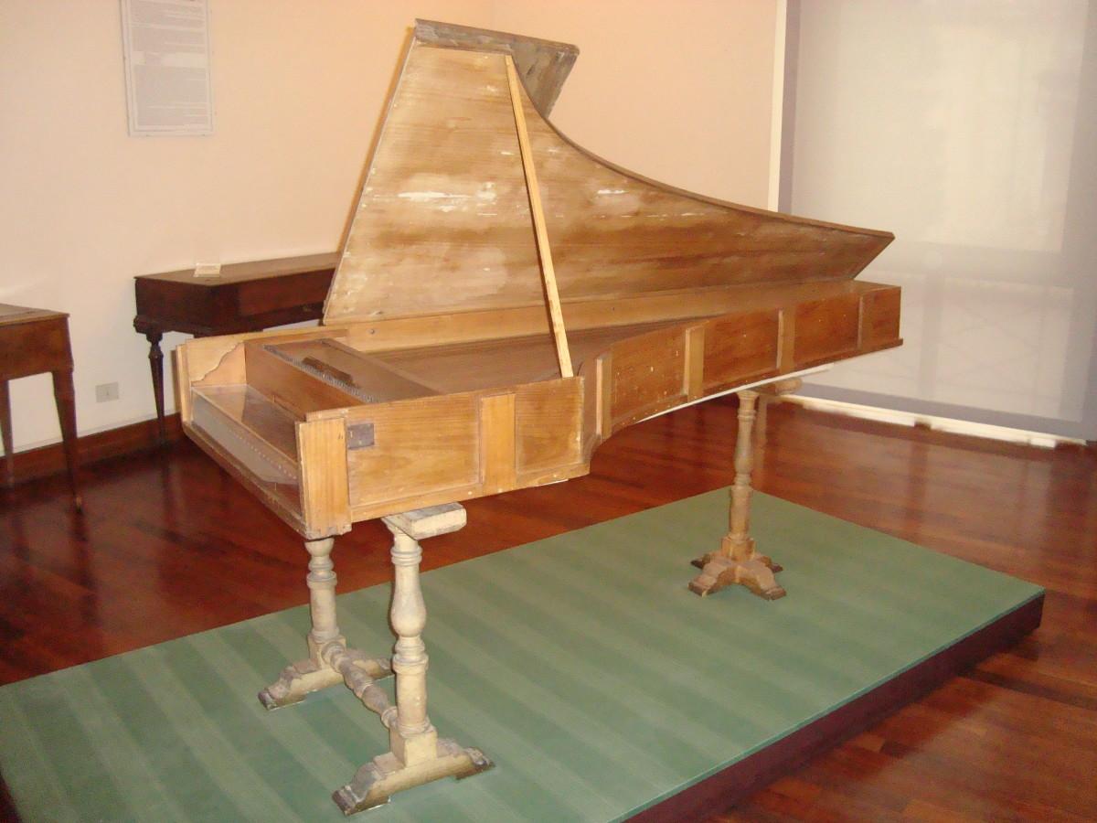 Piano forte by Bartolomeo Cristofori manufactured in 1722, Museo Nazionale degli Strumenti Musicali di Roma