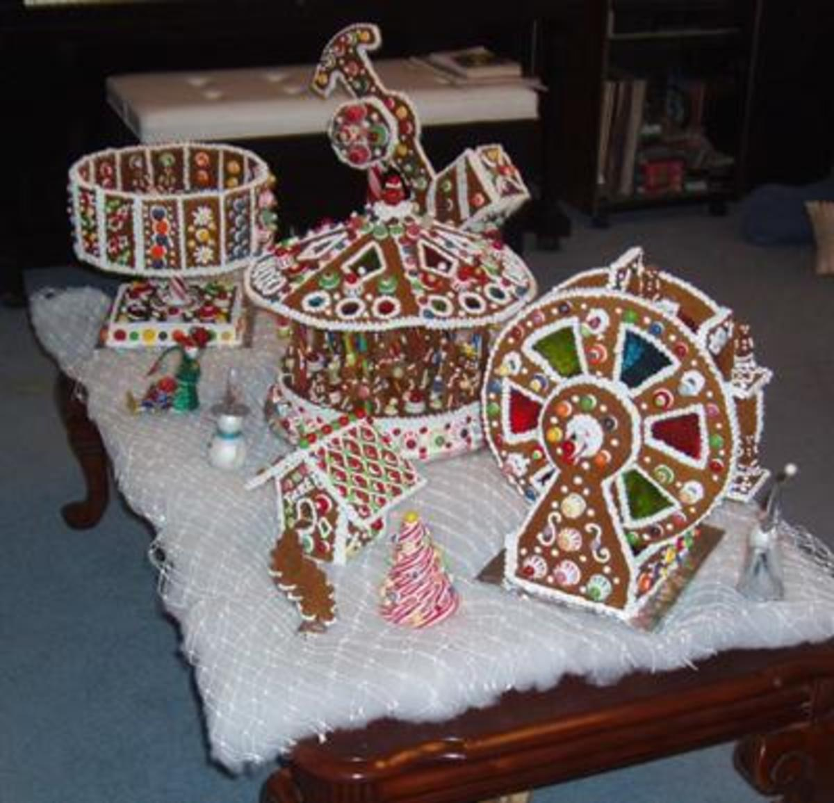A carnival made of gingerbread!