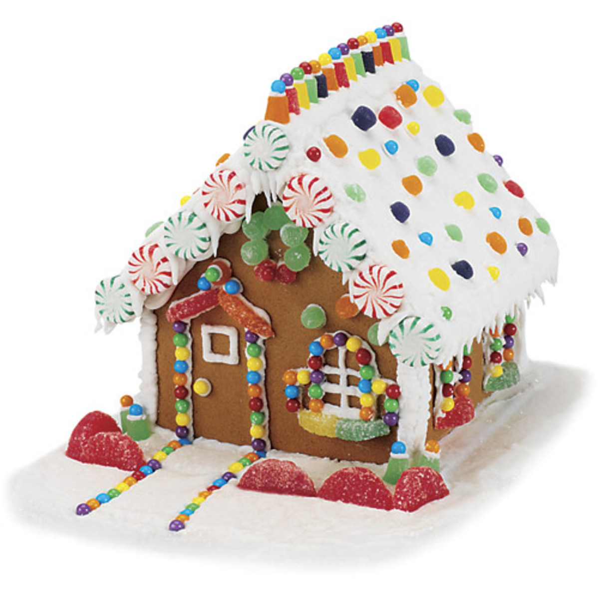 "A more ""traditional"" style of gingerbread house. Probably the one most are familiar with."