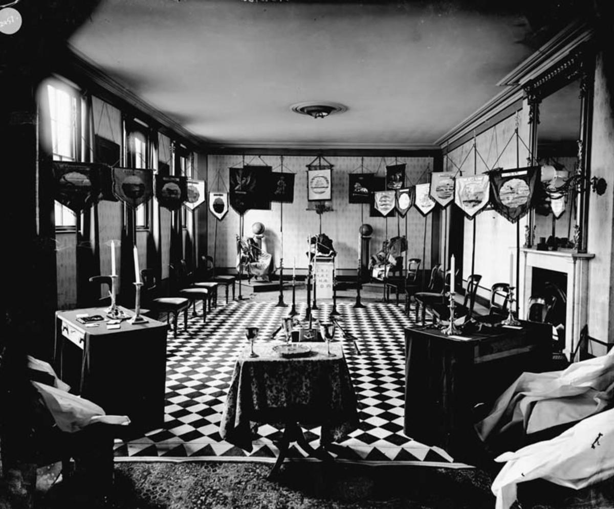 MEETING ROOM AT MASONIC LODGE