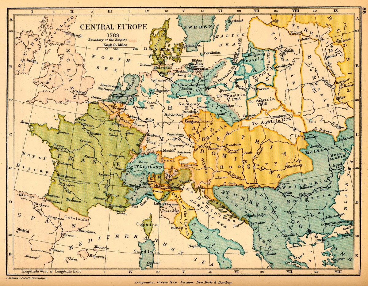MAP OF EUROPE (1789)