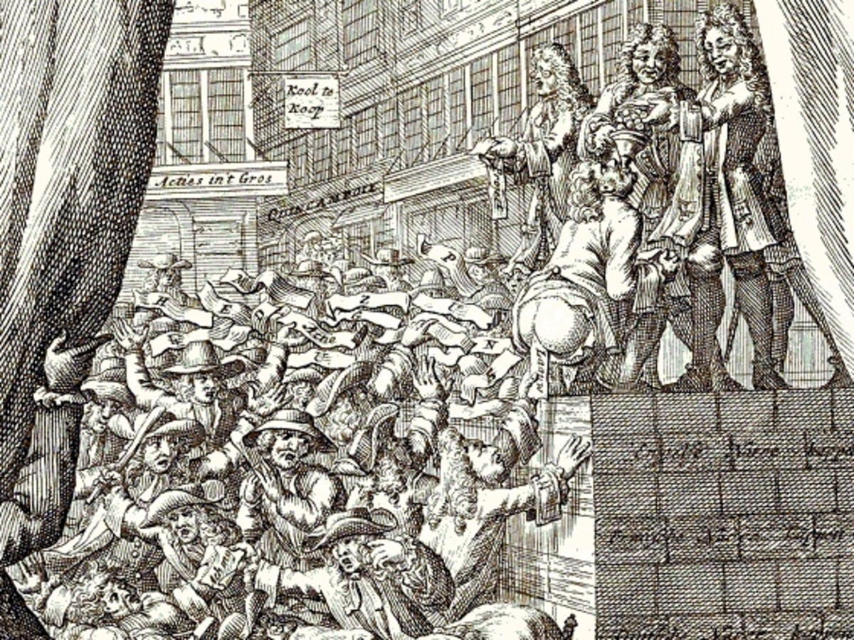 WHEN THE MISSISSIPPI COMPANY BUBBLE BURST A STAMPEDE ENSUED TO EXCHANGE PAPER MONEY FOR HARD CURRENCY
