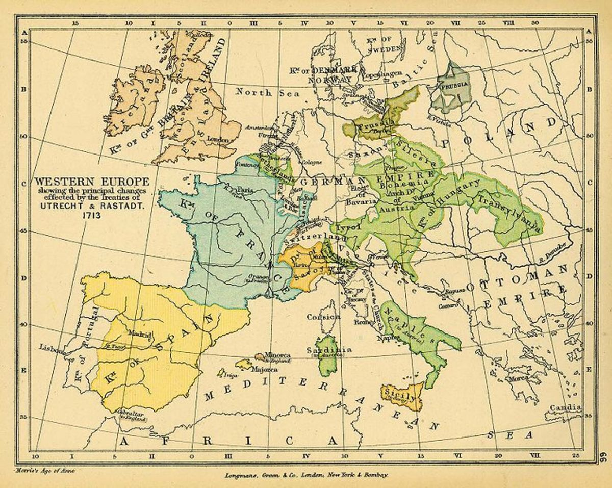 MAP OF EUROPE (1713)