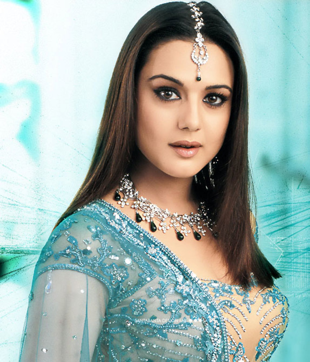 Preity Zinta in traditional clothes