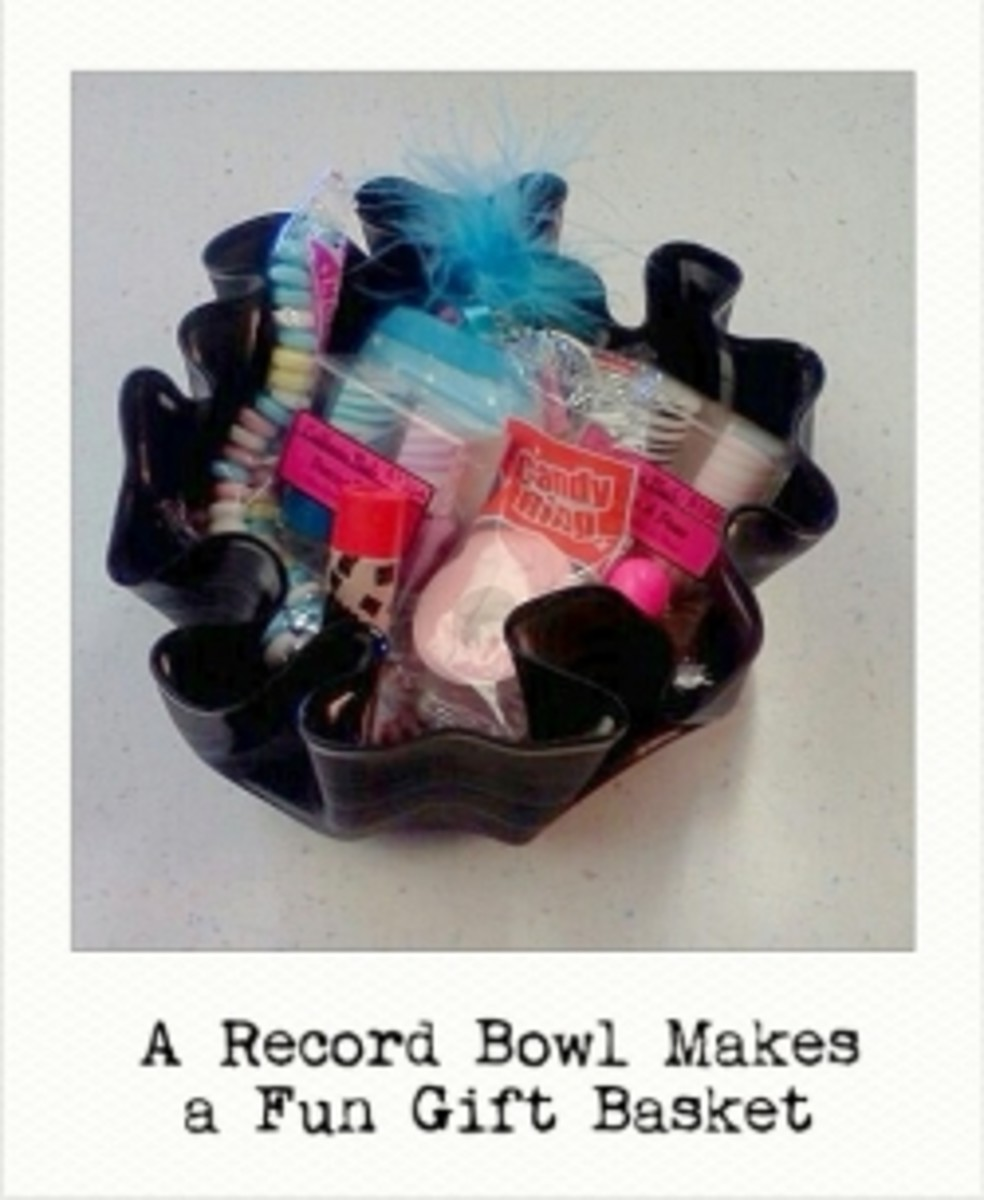 Record Bowl Gift Basket
