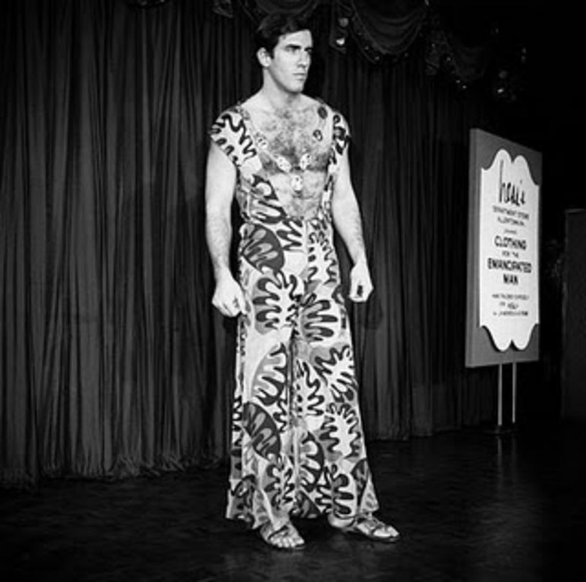 Male model in a dress, c. 1968