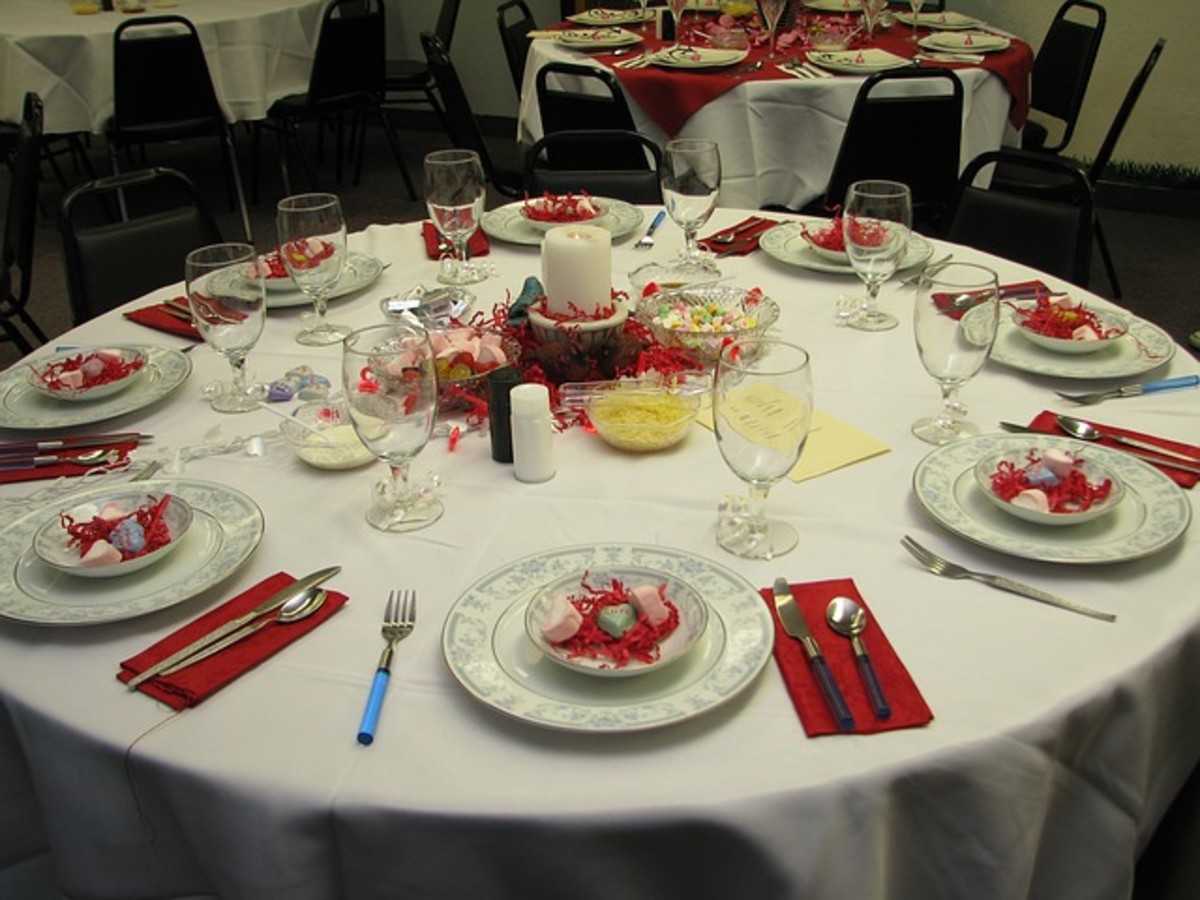 Valentine's Day Adult Party Dinner