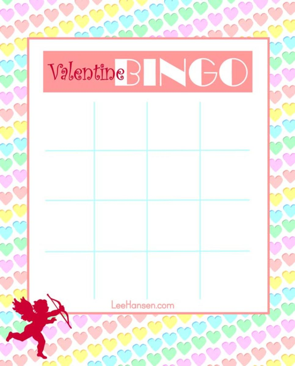 Valentine Bingo Printable Card
