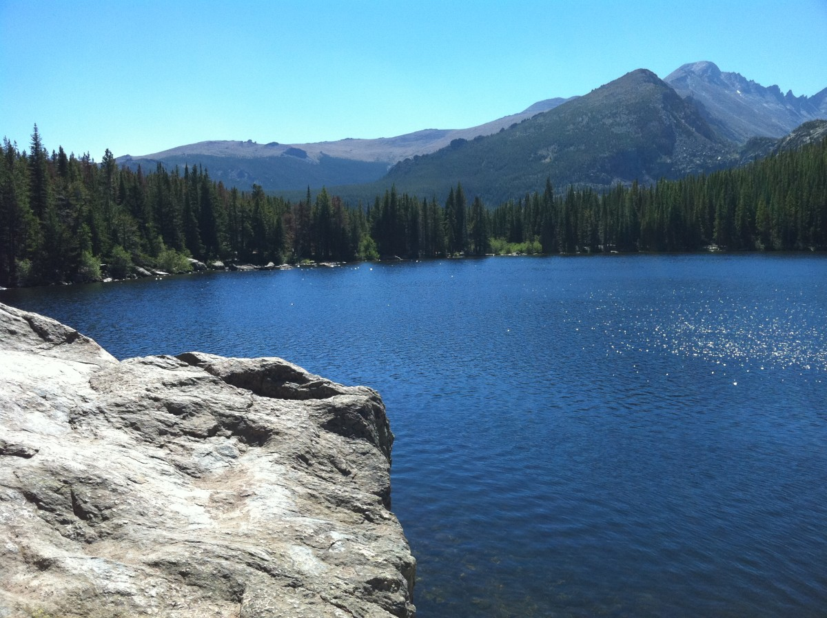 Lake at the Rocky Mountain National Park.