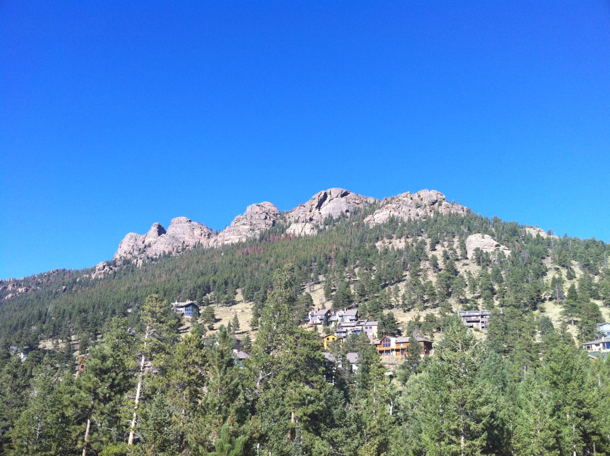 Mountain above the condo in Estes Park, Colorado.