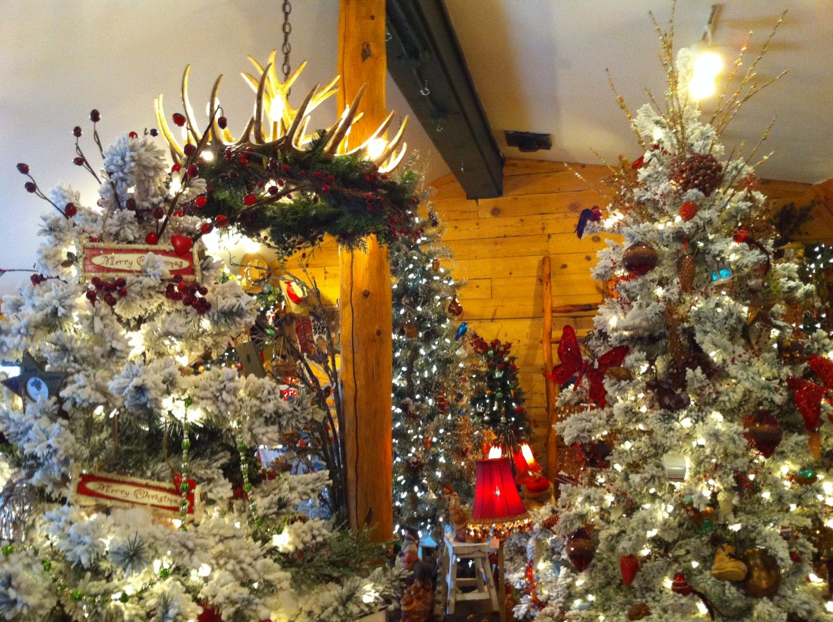 There is a Christmas shop that is open year around in Estes Park.