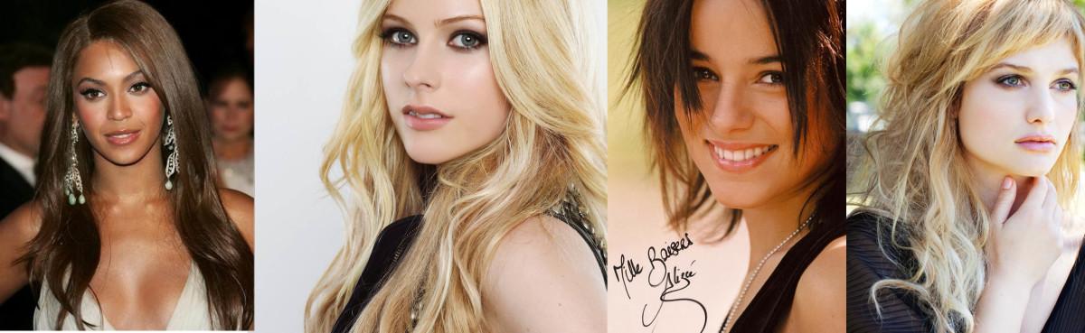 Beyonce Knowles, Avril Lavigne, Alizee Jacotey & Alison Sudol