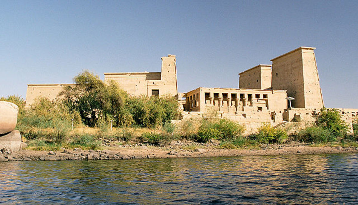 The Temple of Isis as it looked in 2004.