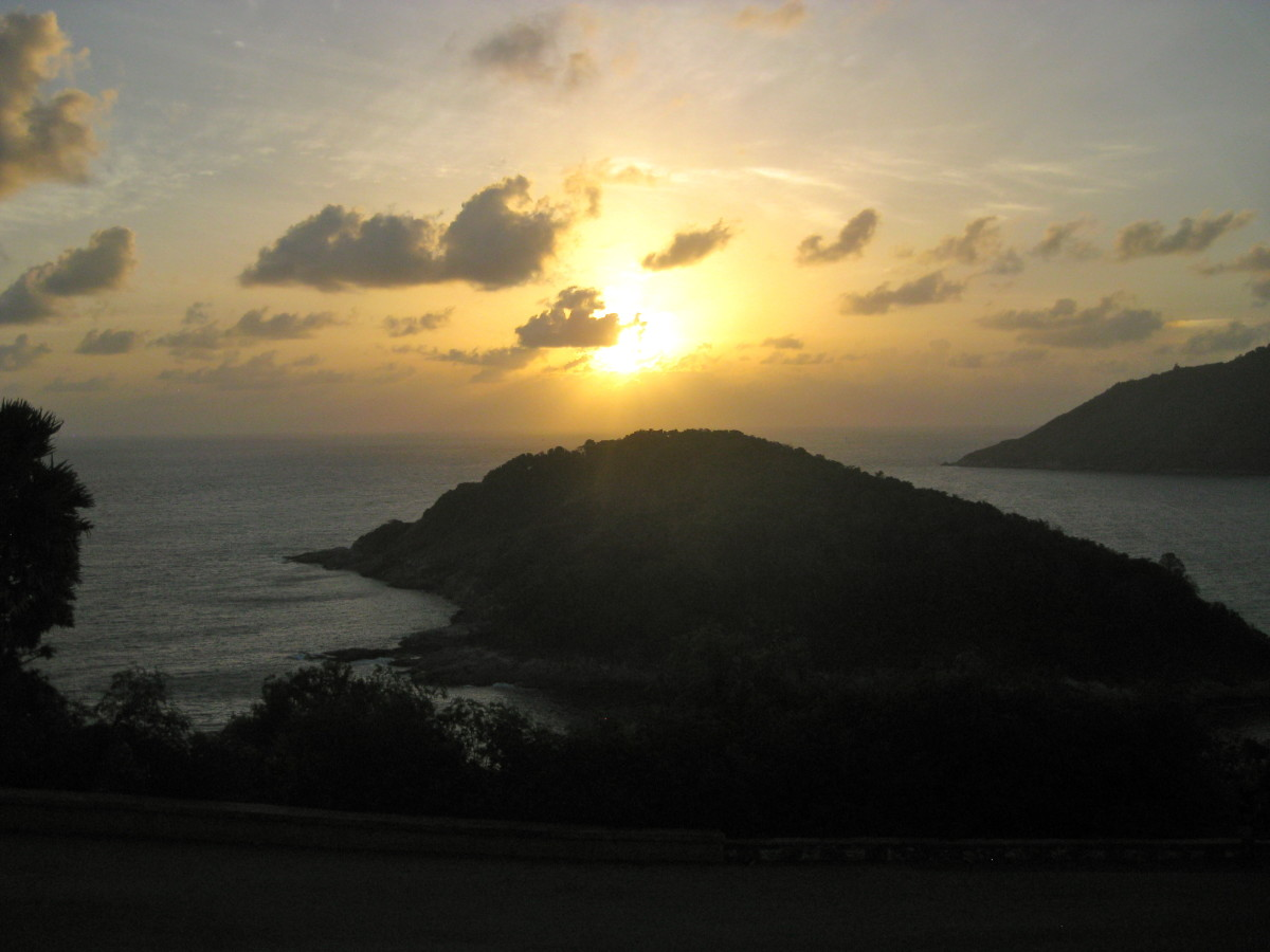 Sunset at Promthep Cape