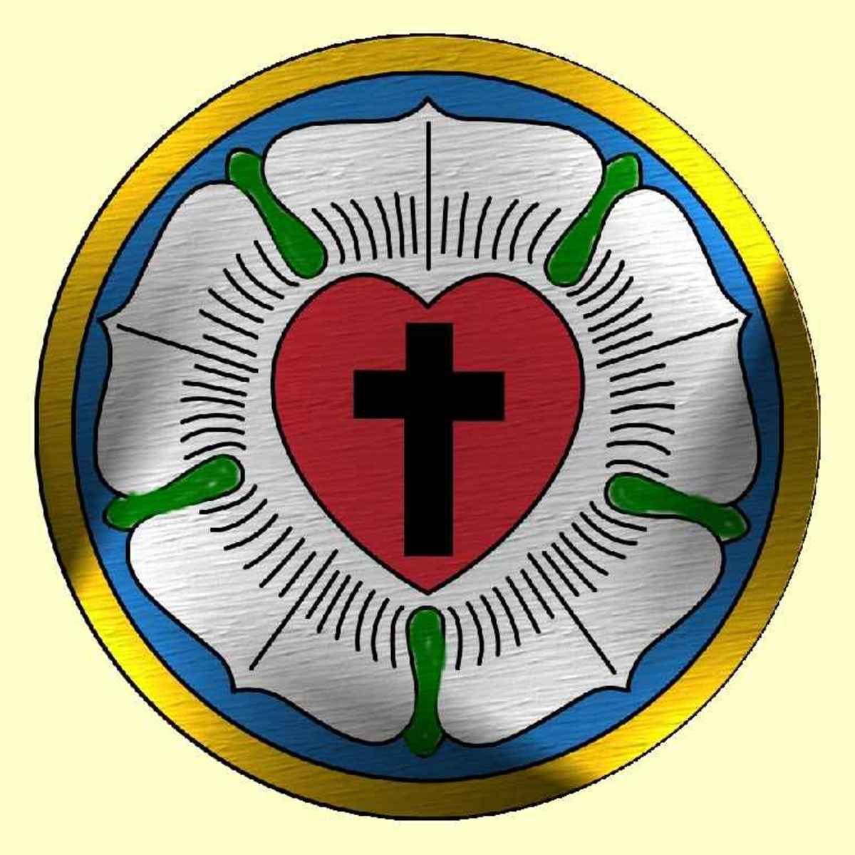 Martin Luther's mark or seal. Notice the black cross, as mentioned in the Jesuit's initiation.