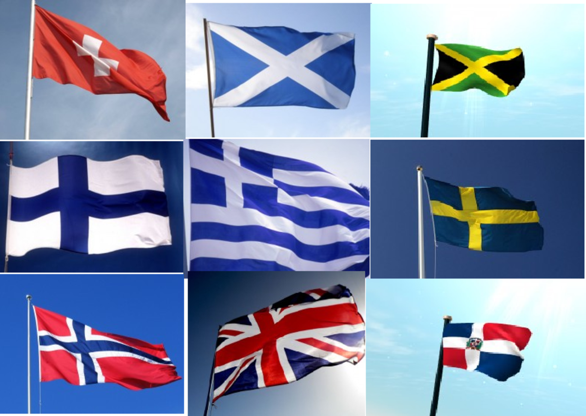"""Many flags with crosses. The """"Mark"""""""