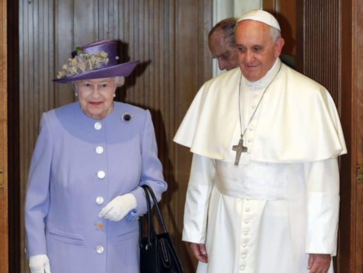 Queen Elizabeth and Pope Francis