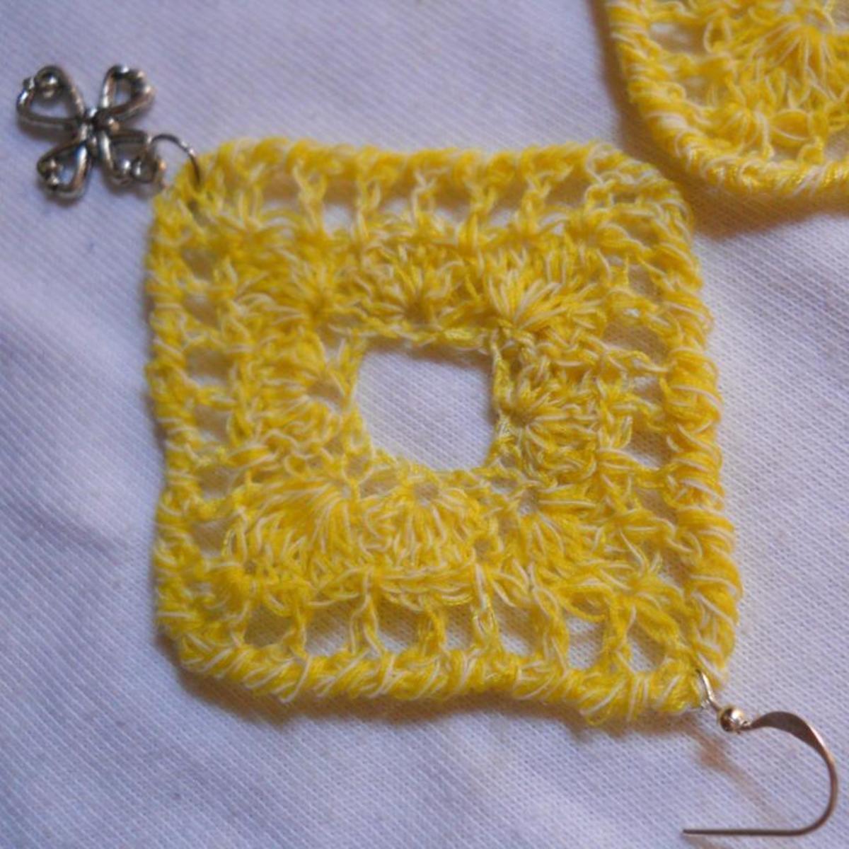 Crochet Diamond Earring #4