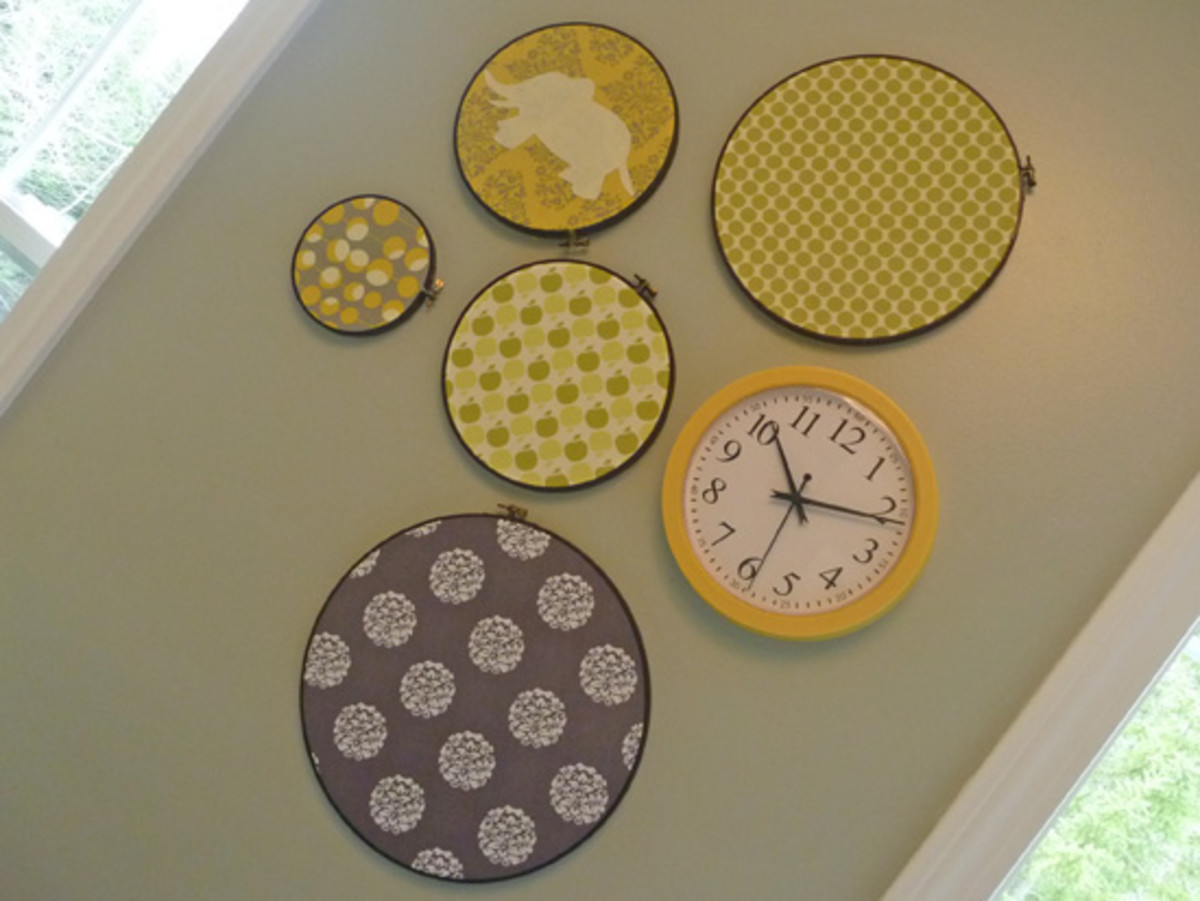 embroidery hoop wall art