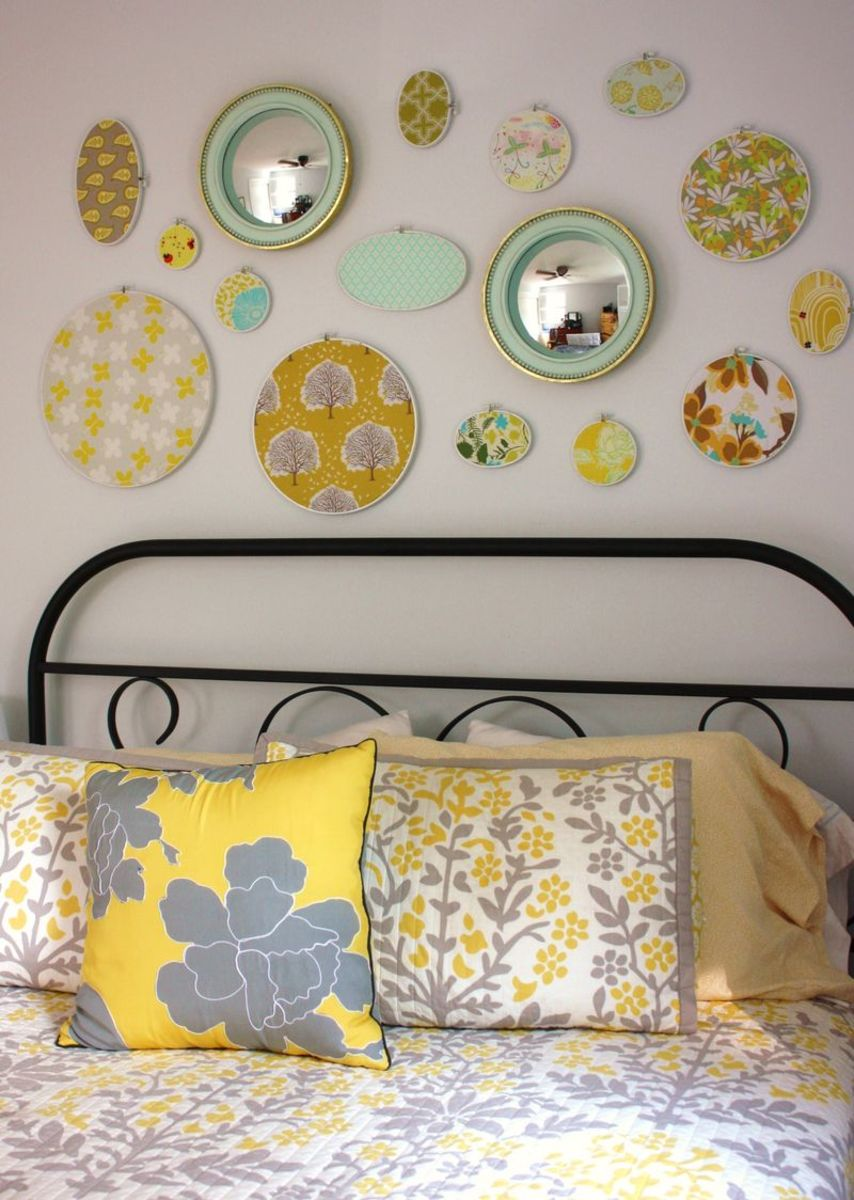 embroidery hoop bedroom decor