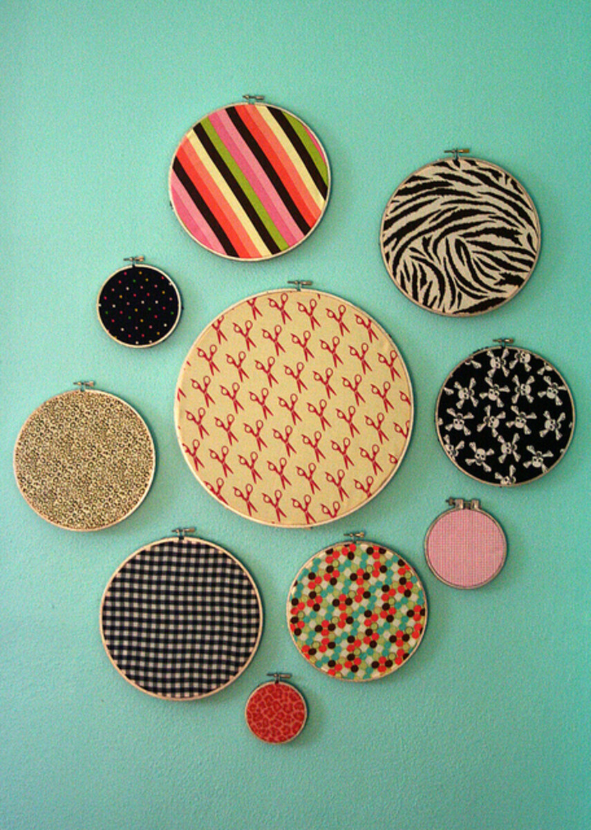 Frugal Home Decor: Embroidery Hoop Wall Art